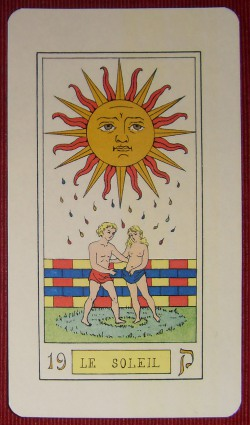 Tarot d'Oswald wirth 1889 - Le soleil